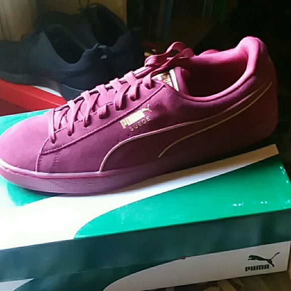best authentic 14396 cdcc1 Puma suede foil fs maroon
